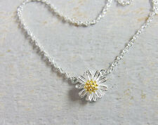 925 Sterling Silver Daisy Chain  Necklace 15.5 - 17 inches adjustable