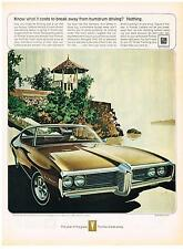 Vintage 1969 Magazine Ad Pontiac What It Costs To Break Away From Humdrum Drive