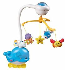 VTech Baby 2-in-1 Ocean Sounds Whale Mobile cot Toy