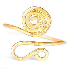 Spirals Gold Filled 14k Ring High Quality Adjustable Size 6 7 8 9 Wrap Band Chic
