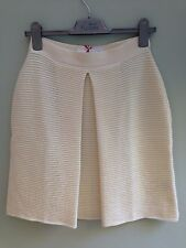 SKIRT 100% MERINO WOOL SIZE 16 BY MAISON RABIH KAYROUZ RIBBED PLEAT CREAM BNWT