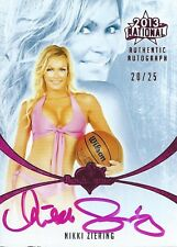 (HCW) 2013 Bench Warmer National Autographs NIKKI ZIERING 20/25 Auto Card
