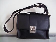 Missoni Small Black Genuine Leather Cross Body Bag With Adjustable Strap