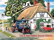 Foden Steam Wagon small steel sign 200mm x 150mm (og)