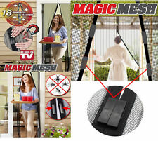 New Magic Curtain Door Mesh Magnetic Fastening Hands Free Fly Bug Insect Screen
