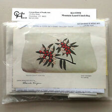 Custom House of Needle Arts Crewel Kit Mountain Laurel Clutch Bag