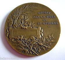 Médaille de table en bronze, poinçonnée, ville de SAINT-ETIENNE, diam: 50 mm.