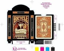 Bicycle Venexiana Black Playing Cards Half Moon Playing Cards Rare New Sealed