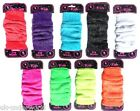 Childrens Girls Kids Neon Glitter Plain Leg Warmers Dancewear Fancy Dress Age 3+
