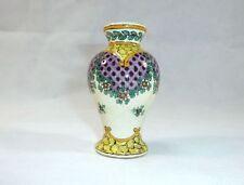 Kleine Keramik Vase Frankreich um 1900 Handbemalt.
