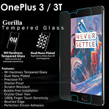 Gorilla Tempered Glass Screen Protector Cover Guard For One plus 3 / OnePlus 3T