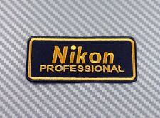 Embroidered Patch Iron Sew Logo Emblem NIKON camera lens photo