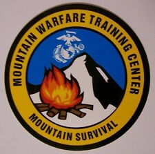 Window Bumper Sticker Military Marine Mountain Warfare Survival NEW Decal