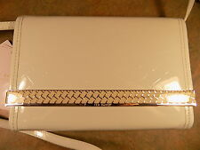 GORGEOUS NEW TED BAKER T EMBOSSED PALE GREEN EVENING HANDBAG
