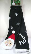 K.Bell Christmas Santa Face Red Black Tube Non-Skid Ladies Slipper Socks New