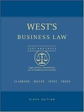 West's Business Law with Online Research Guide by Kenneth W. Clarkson *Like New