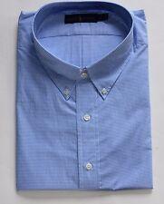 New Polo Ralph Lauren Long Sleeve Blue / White Gingham Shirt  / 3XLT