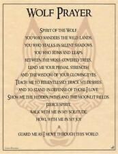 Wolf Prayer Parchment for Book of Shadows Page!