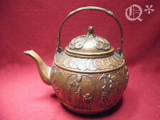 Antique Brass Bronze inlaid Lucky money Kettle sign