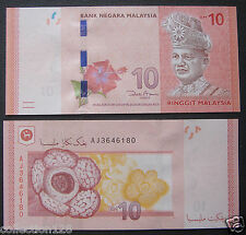 Malaysia Banknote 10 Ringgit 2012 New Edition UNC
