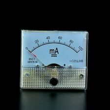 DC 0-100mA Analog Panel Meter Ampere Current Meter Ammeter AMP 100 mA Class2.5