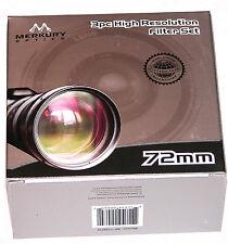 72mm 3P Hi Def Pro Lens Filter Kit UV PL FLD Japan MC Merkury Round 72 mm