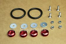 RED ALUMINUM BUMPER/TRUNK QUICK RELEASE FASTENER KIT for Eclipse Lancer GS GT