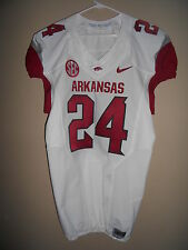 ARKANSAS GAME USED FOOTBALL JERSEY