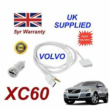 VOLVO XC60 For Apple iPhone 3gs 4 4s iPod Audio Cable & 1.0A Power Adapter w