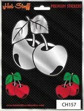 Cherries Car Sticker - Tattoo Art - Party Girl Car - Chrome Auto Decal
