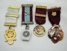 Vintage Selection of Four Various Masonic And Buffalo Medals With Ribbons