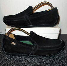 CLARKS Originals Black Leather Suede Loafers Size 7 G Excellent condition