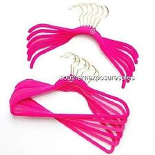 Joy Mangano Huggable Hangers 100 Piece Shirt/Pant/Skirt Hangers Hot Pink Brass