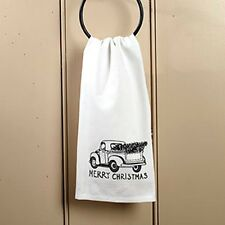 New Primitive Country Kitchen Bath VINTAGE TRUCK MERRY CHRISTMAS Hand Towel