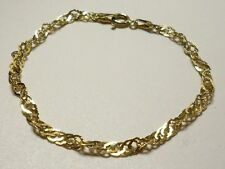 Bracciale argento 925 placcato ORO - sterling silver gold plated child bracelet