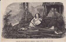 1883  --  NOUVELLES HEBRIDES   FEMME PAPOUE VEILLANT UN MORT  3K055