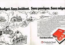 PUBLICITE ADVERTISING 034   1978   CREDIT DU NORD  la banque vivante ( 2 pages)