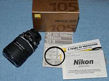 Nikon AF DC-Nikkor 105mm f/2 D Prime Lens