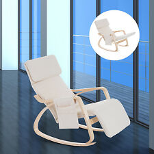 HOMCOM Rocking Lounge Chair Recliners with Adjustable Footrest & Side Pocket