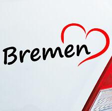 Pegatina Coche Ciudad de hanseatic Bremen aprox. 20x8cm Corazón 800