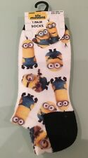 Primark Ladies Girls 1 Pair Despicable Me Minion Invisible Shoe Liner Socks 4-8
