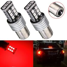 2X 1156 BA15S 15 SMD 2835 LED SAMSUNG Canbus Feux Voiture Tournez Signal Rouge