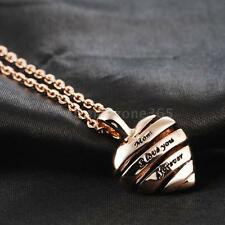 ROXI Jewelry Heart Pendant Necklace Chain Rose Gold Mum Mother's Day Gift E6L9