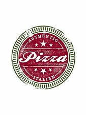 ART PRINT POSTER PAINTING DRAWING AUTHENTIC ITALIAN PIZZA BADGE FOOD LFMP0393