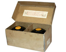 Pair Antique Scottish Lawn Bowls Thomas Taylor Original Box Lignoid