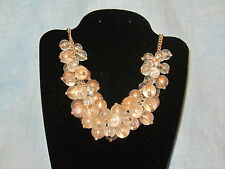 SIMPLY VERA WANG NWT $44 women's necklace gold balls disco cluster