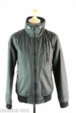 "MENS SUPERDRY MOODY NORSE BOMBER WAX JACKET - LARGE 40"" CHEST"