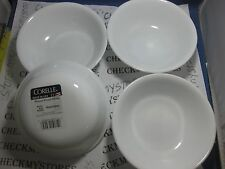4NEW CORNING CORELLE WINTER FROST WHITE SOUP/CEREAL/BERRY BOWLS 18OZ MADE IN USA