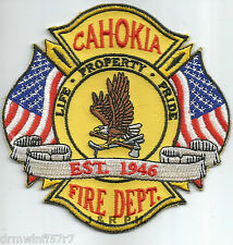 """Cahokia  """"Life - Property - Pride"""", IN   (4"""" x 4"""" size)  fire patch"""