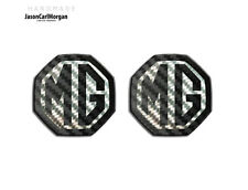 Mg ZS ZR MGF BADGE Inserisci GRILL ANTERIORE POSTERIORE BOOT mg LOGO BADGE 59MM NERO CARBONIO